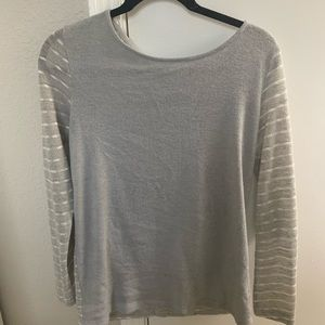 Grey Elbow Patch Top